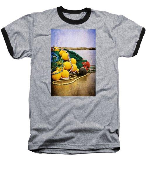 Fisherman's Net Baseball T-Shirt by Randi Grace Nilsberg