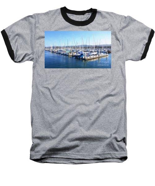 Fisherman's Wharf Monterey Baseball T-Shirt by Gina Savage