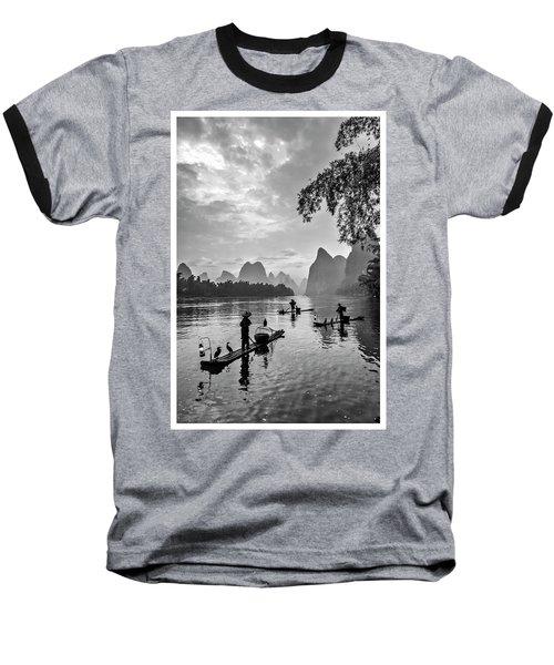 Fishermen At Dawn. Baseball T-Shirt