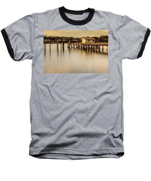 Fishermen Fuel Dock Baseball T-Shirt by Tony Locke