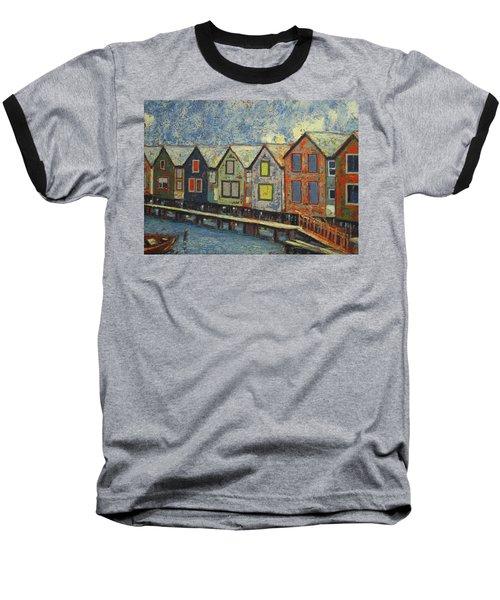 Fishermen Huts Baseball T-Shirt by Walter Casaravilla