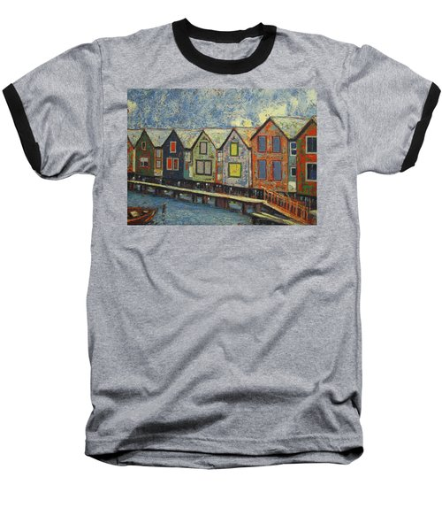 Fishermen Huts Baseball T-Shirt