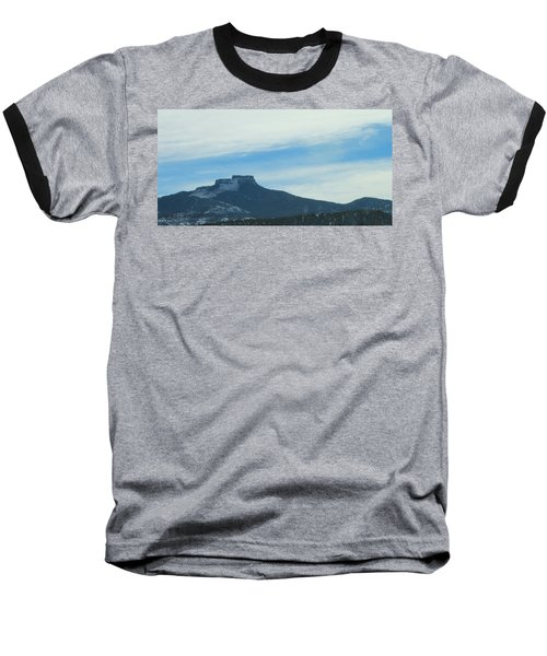 Fishers Peak Raton Mesa In Snow Baseball T-Shirt