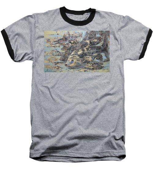 Fishes. Monotype Baseball T-Shirt