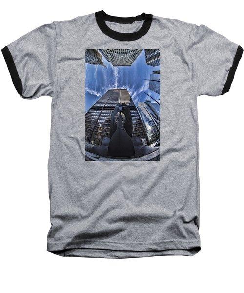 Fisheye View Of Chicago's Picasso Baseball T-Shirt