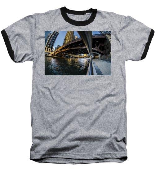 Fisheye View From The Chicago Riverwalk Baseball T-Shirt