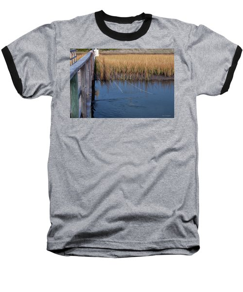 Fishin' Lines Baseball T-Shirt by Kay Lovingood