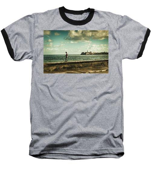 Fishing Along The Malecon Baseball T-Shirt