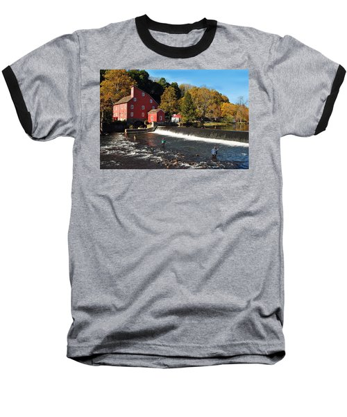 Fishing At The Old Mill Baseball T-Shirt