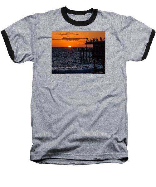 Fishing At Twilight Baseball T-Shirt by Ed Clark