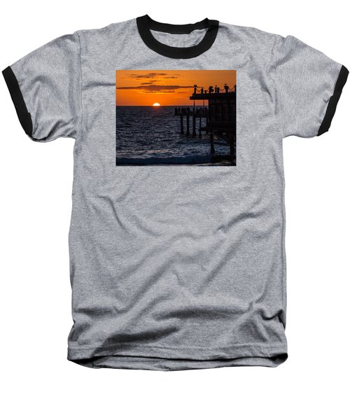 Fishing At Twilight Baseball T-Shirt