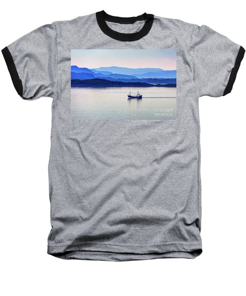 Fishing Boat At Dawn Baseball T-Shirt