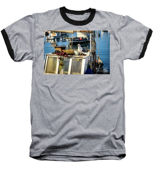 Fishing Boat Captain Seagull - Rovinj, Croatia Baseball T-Shirt