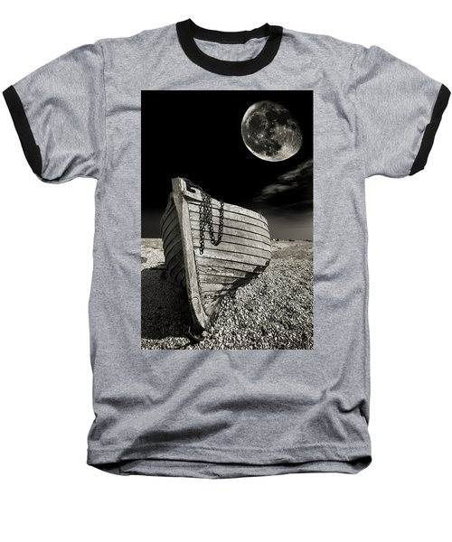 Fishing Boat Graveyard 3 Baseball T-Shirt by Meirion Matthias