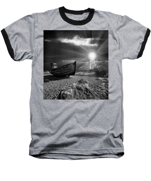 Fishing Boat Graveyard 7 Baseball T-Shirt