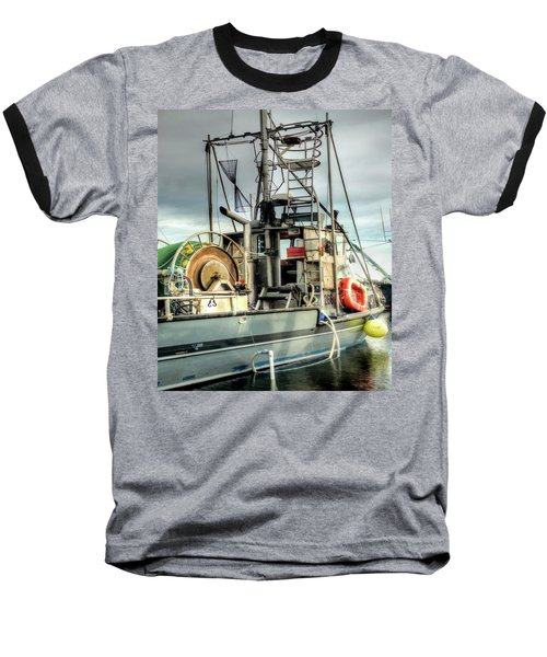 Fishing Boat Rigging Baseball T-Shirt by Greg Sigrist