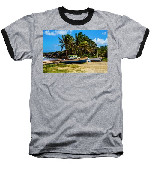 Fishing Boat Baseball T-Shirt