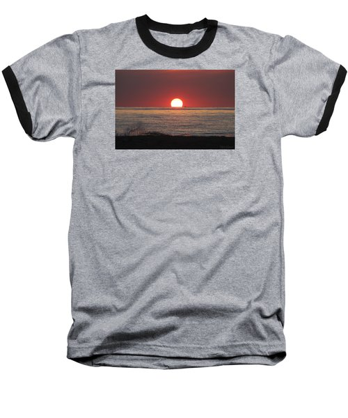 Fishing Boat Sunrise Baseball T-Shirt