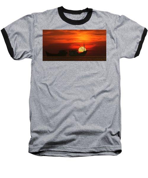 Fishing Boats In Sea Baseball T-Shirt