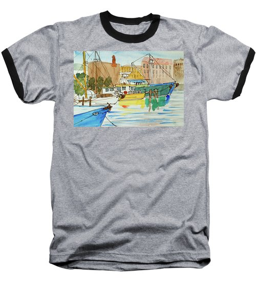 Fishing Boats In Hobart's Victoria Dock Baseball T-Shirt