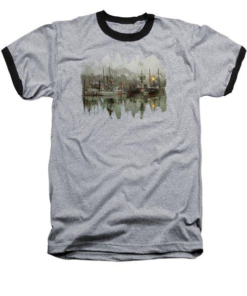 Fishing Fleet Dock Five Baseball T-Shirt