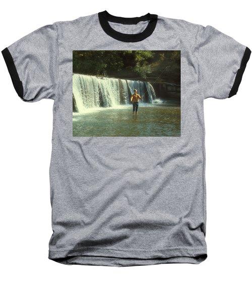 Fishing For Smallies Baseball T-Shirt by Garry McMichael