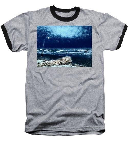 Fishing For The Moon Baseball T-Shirt