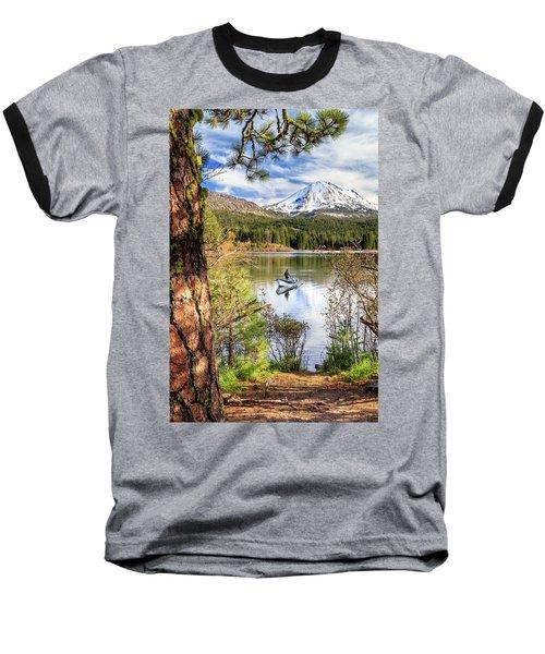 Baseball T-Shirt featuring the photograph Fishing In Manzanita Lake by James Eddy