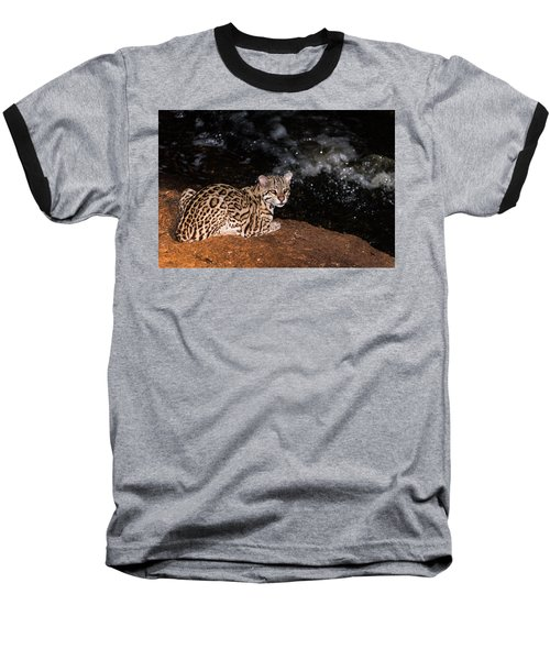 Fishing In The Stream Baseball T-Shirt by Alex Lapidus