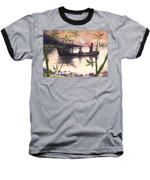 Fishing In The Sunset   Baseball T-Shirt