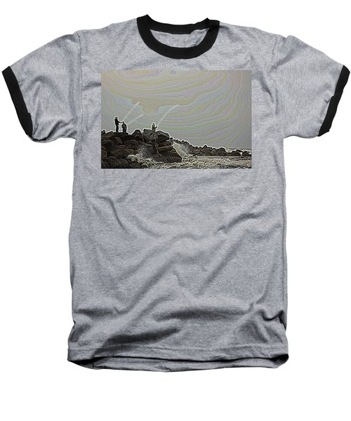 Fishing In The Twilight Zone Baseball T-Shirt