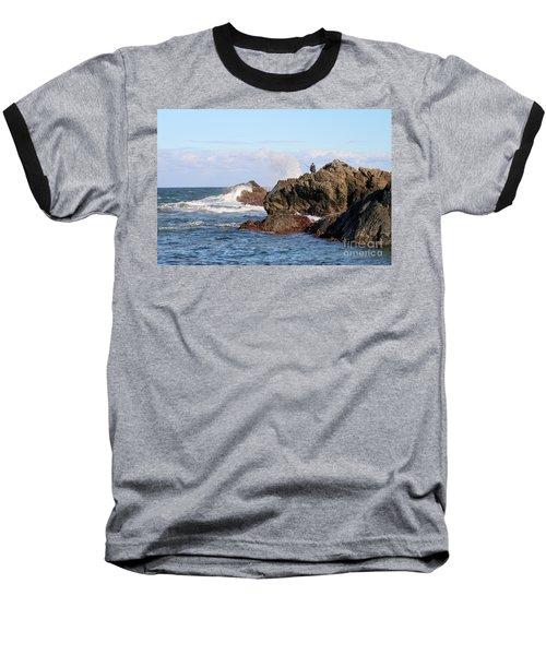 Baseball T-Shirt featuring the photograph Fishing by Linda Lees