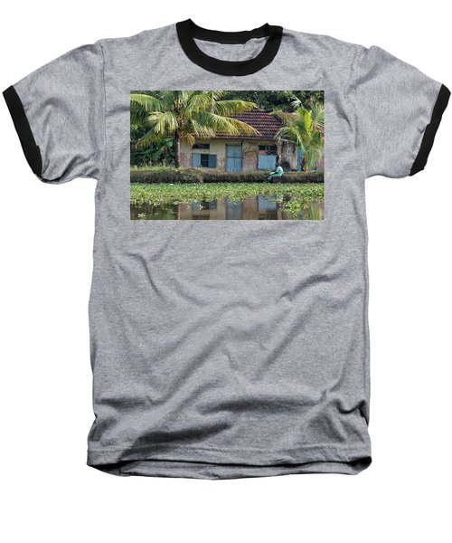 Baseball T-Shirt featuring the photograph Fishing by Marion Galt