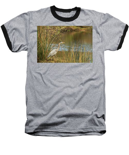 Baseball T-Shirt featuring the photograph Fishing Oceano Lagoon by Art Block Collections