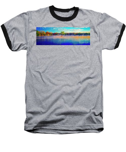 Fishing On Crystal Lake, Il., Sport, Fall Baseball T-Shirt