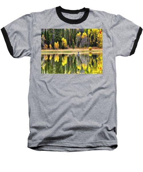 Fishing On Dream Lake Colorado Baseball T-Shirt