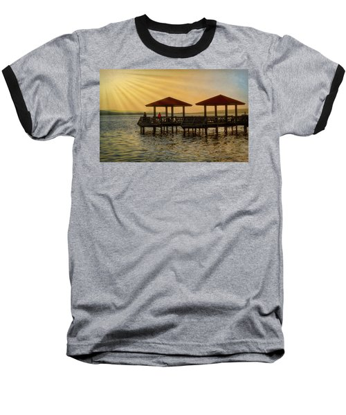 Fishing Pier Baseball T-Shirt