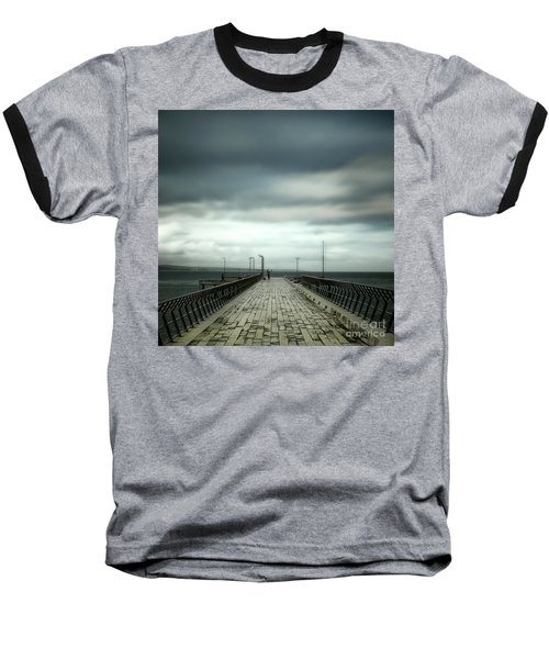 Baseball T-Shirt featuring the photograph Fishing Pier by Perry Webster