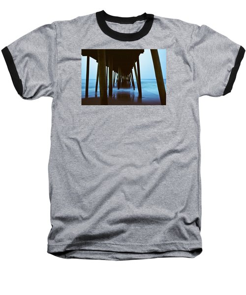 Fishing Pier Baseball T-Shirt by Scott Meyer