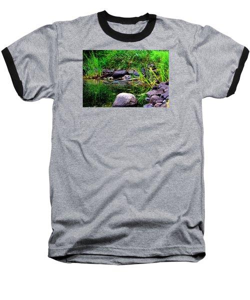 Fishing Pond Baseball T-Shirt