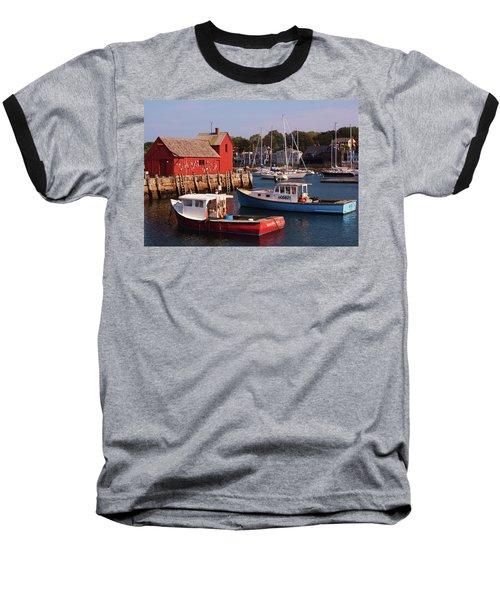 Fishing Shack Baseball T-Shirt by John Scates