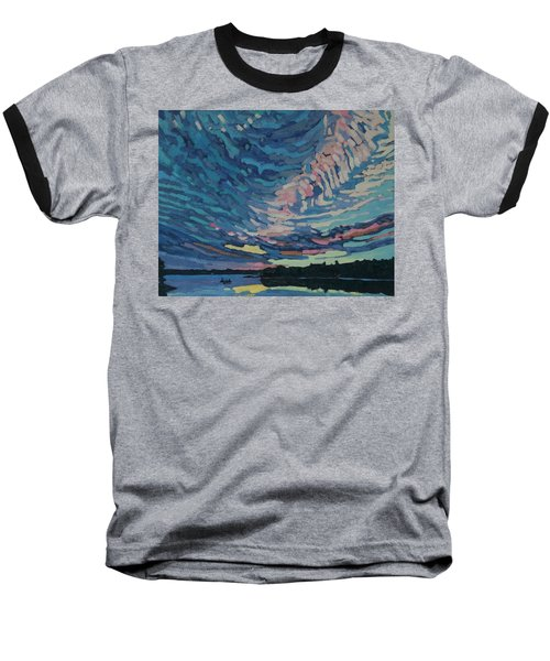 Fishing Sunset Baseball T-Shirt