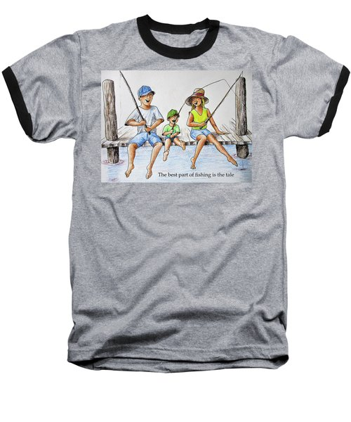 Fishing Tale Baseball T-Shirt