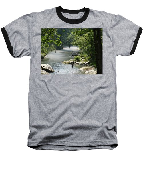 Fishing The Gunpowder Falls Baseball T-Shirt by Donald C Morgan
