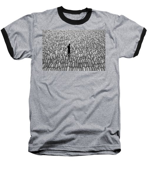 Baseball T-Shirt featuring the photograph Fishing The Rocks by David Lee Thompson