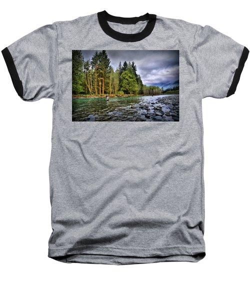 Fishing The Run Baseball T-Shirt