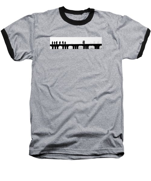 Baseball T-Shirt featuring the photograph Fishing The San Francisco Skyline by Steve Siri