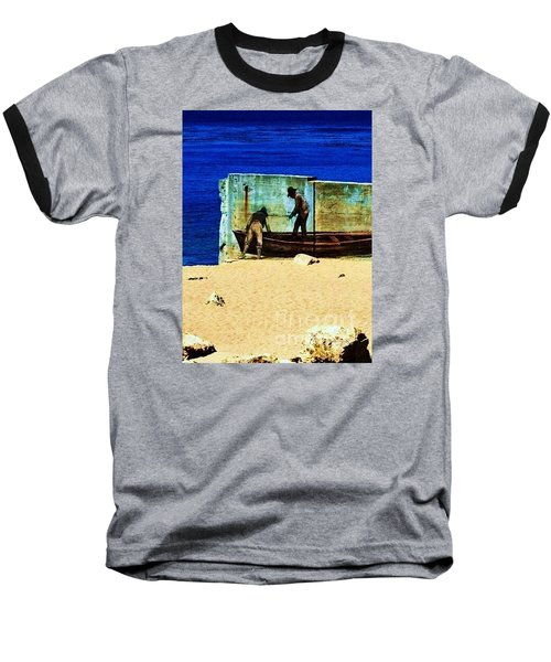 Baseball T-Shirt featuring the photograph Fishing by Vanessa Palomino