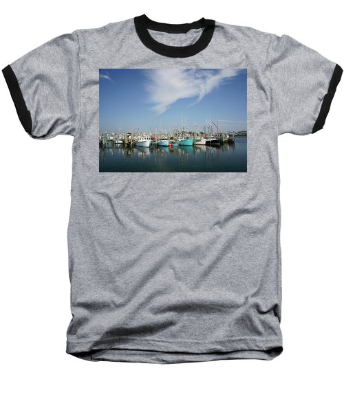 Fishing Vessels At Galilee Rhode Island Baseball T-Shirt