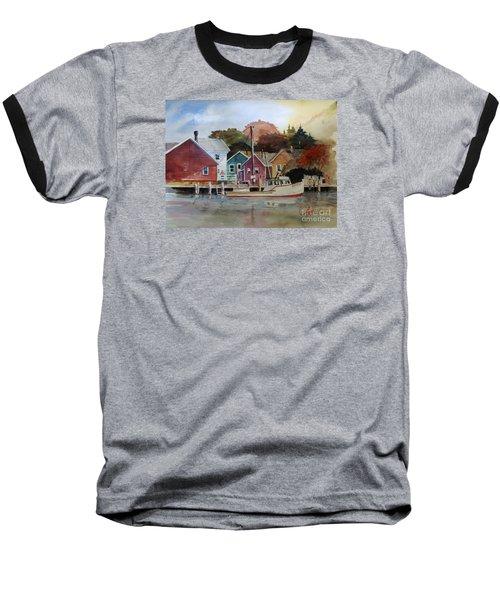 Fishing Village Baseball T-Shirt